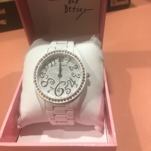 Betsey Johnson White Watch